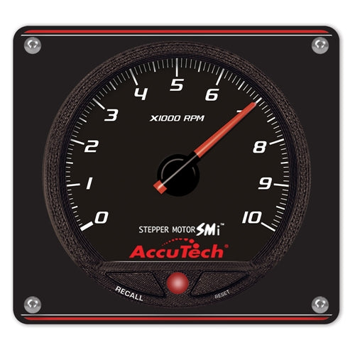 AccuTech SMi 'Stepper Motor' Memory Tach - Black in Aluminum Panel 52-44477