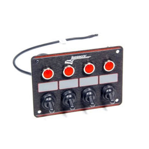 Longacre 4 Accessory Switch Panel with 4 Pilot Lights 52-44865