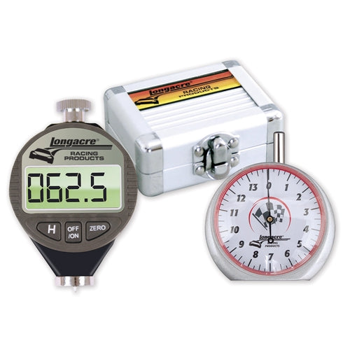 Longacre Digital Tire Durometer & Dial Tread Depth Gauge with Storage Case 50557