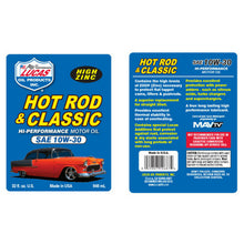 Lucas 10W-30 Hot Rod & Classic Engine Oil