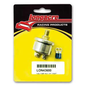 "Longacre Low Oil Pressure Ignition or Electric Fuel Pump Shutoff Switch 1/8"" NPT 43600"