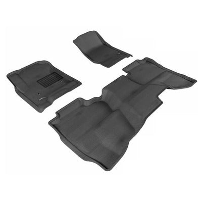 Kagu All Weather Floor Liner - Chevy Silverado Double Cab 1500, 2500HD, 3500HD 2014-19 - 1st & 2nd Row