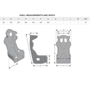Momo Start Race Seat Dimensions