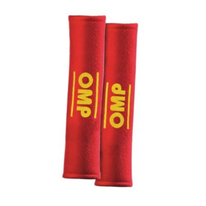 OMP Harness Pads for 3-Inch Belts - Red