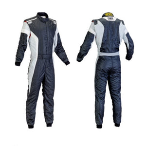 OMP Tecnica Race Suit - Black/White