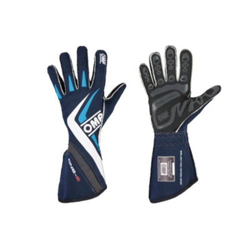 OMP One-S Gloves - Navy Blue/Cyan