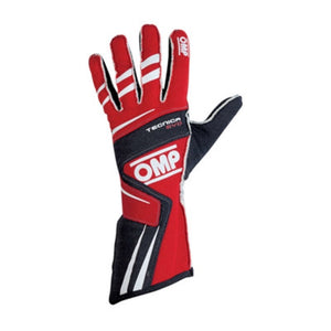OMP Tecnica Evo Gloves - Red