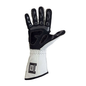 OMP Tecnica Evo Gloves - White (back)