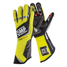 OMP One Evo Gloves - Fluorescent Yellow