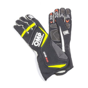 OMP One Evo Gloves - Black/Fluorescent Yellow