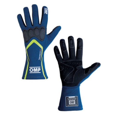 OMP Tecnica-S Gloves - Blue/Fluorescent Yellow