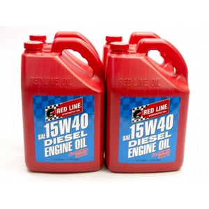 Red Line 15W40 Synthetic Diesel Motor Oil - Case of 4 Gallons