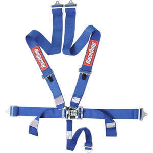RaceQuip 5-Pt Latch and Link Harness - Blue