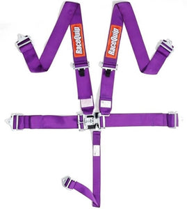 RaceQuip 5-Pt Latch and Link Harness - Purple
