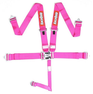 RaceQuip 5-Pt Latch and Link Harness - Pink