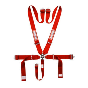 RaceQuip 6-Point-SFI Pull Up Camlock Harness - Red