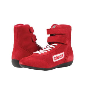Simpson High Top Driving Shoes - Red