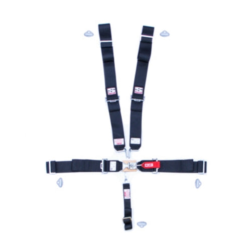 Simpson Sport 5-Point Harness System 29043 - Black