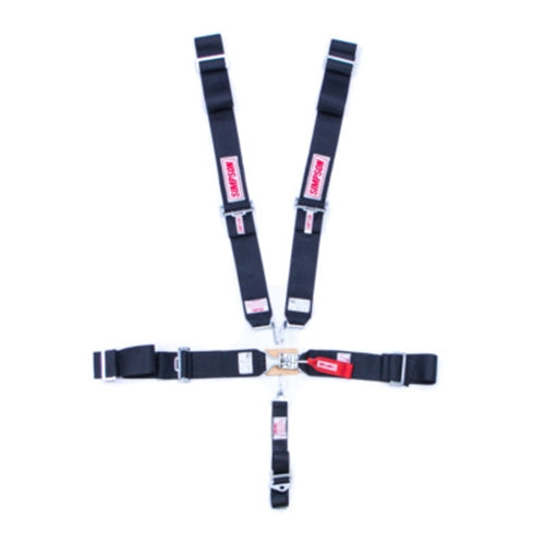 Simpson 5-Point Sprint Car Harness - Black