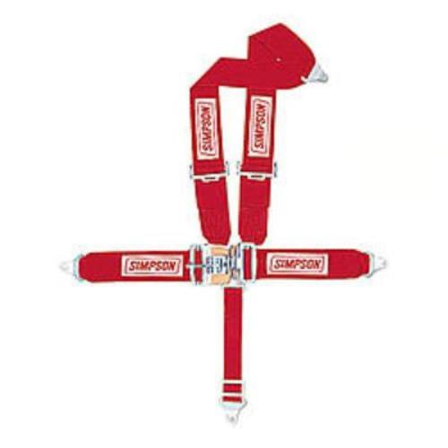 Simpson 5-Point FX Harness Red