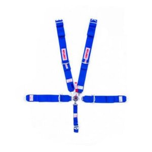 Simpson 5-Point Camlock Harness Blue - Bolt-On