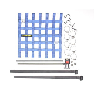 "Schroth Window Net Kit with Hardware - Square 16"" x 16"" Blue SR 09043-1"