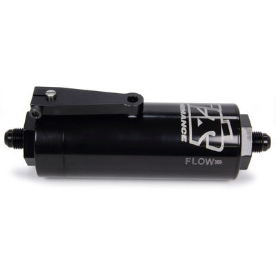 Ti22 Performance 6 AN Fuel Filter With Shutoff Black 100 Micron