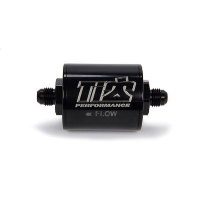 Ti22 Performance 6 AN Fuel Filter Short Style 100 Micron Black