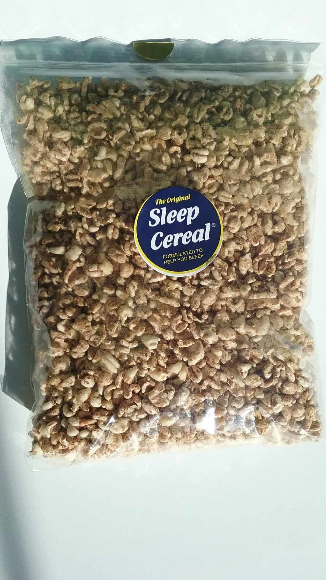 The Original SLEEP CEREAL, formulated to help you sleep-4 oz natural puffed  whole grain wheat pack
