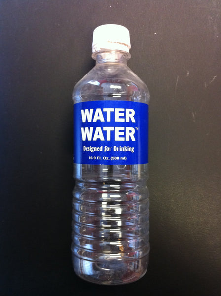 WATER WATER  designed for drinking  ( four 16.9 oz bottle pack)