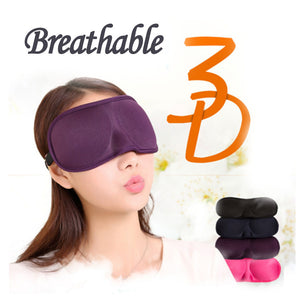 3D Eye mask Insomnia Aid Sleep Mask Portable Travel Rest Sleep Aids Breathable Eye Mask Eye Care Ultra-soft Fabric Eye Patch
