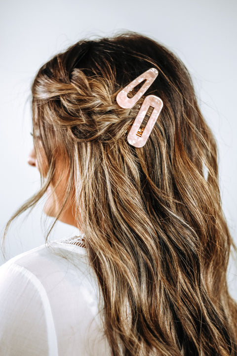 Pastel Pink Double Bar Barrette