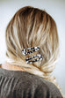 Black and White Triangle Barrette