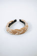Beige Braided Head Band