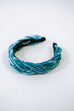 Teal Braided Head Band