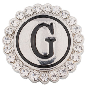 Crystal Circle Letter G Snap