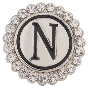 Crystal Circle Letter N Snap