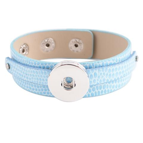 Light Blue Leather Bracelet