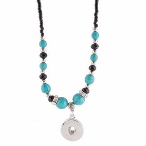 Black and Turquoise Bead Necklace