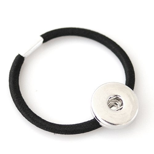 Black Hair Elastic 1 Snap