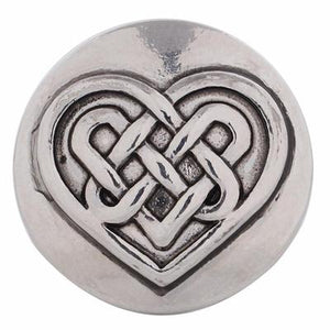 Silver Celtic Knot Heart Snap