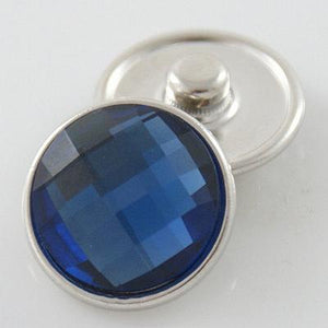 Dark Blue Faceted Snap
