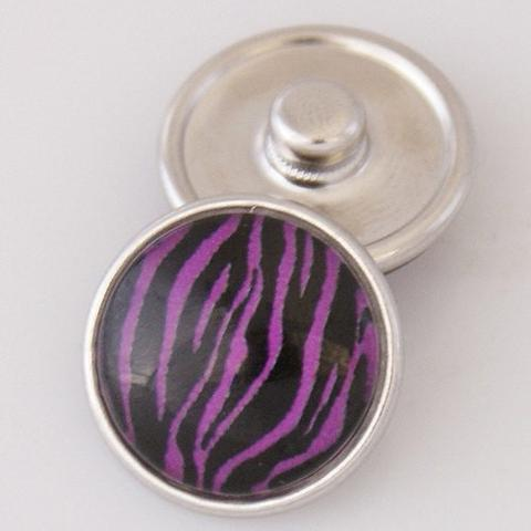 Purple Zebra Stripe Snap