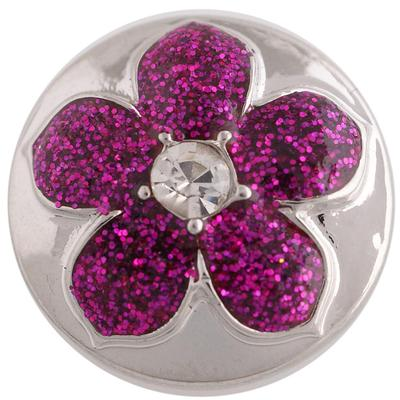 Purple Glitter Flower Snap