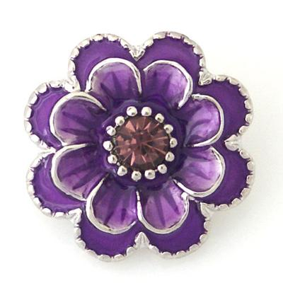 Purple Metal Flower Snap