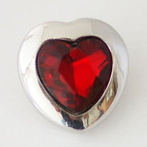 Red and Silver Heart Snap