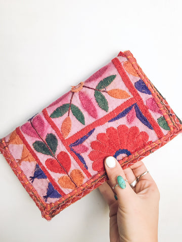 willow embroidered wallet