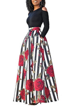Two Piece African Print Maxi Skirt