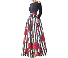Two Piece African Floral Print Maxi Skirt