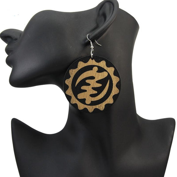 Adinkra Symbol Gye Nyame Earrings